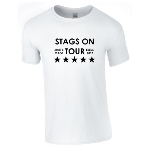 Personalised Stags On Tour T Shirt From Something Personal