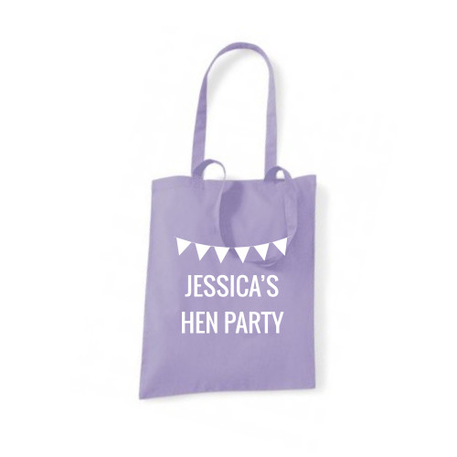Personalised Hen Bunting Tote Bag From Something Personal