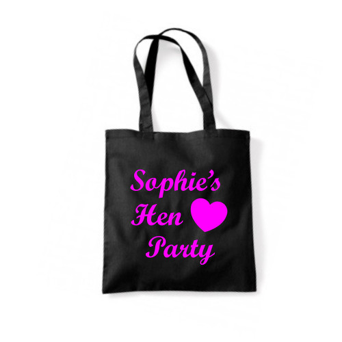 Personalised Heart Hen Tote Bag From Something Personal