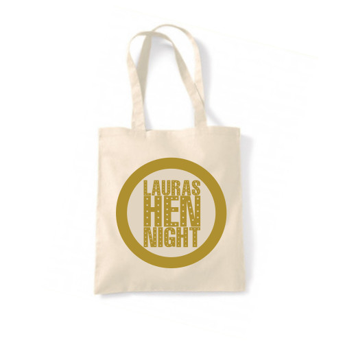 Personalised Star Text Hen Tote Bag From Something Personal