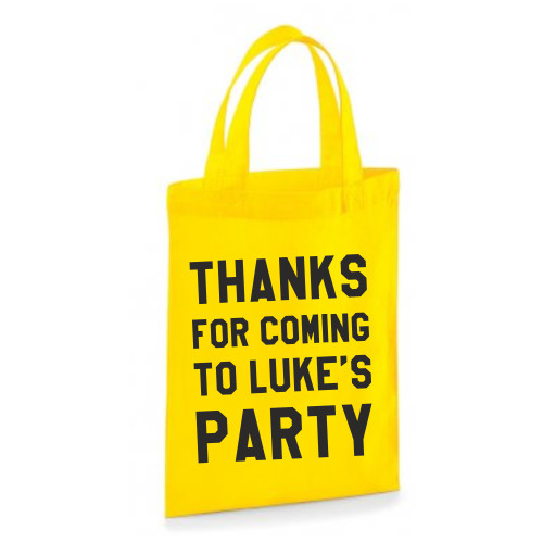 Personalised Text Party Bag From Something Personal