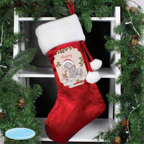 Personalised Me To You Reindeer Luxury Stocking  From Something Personal