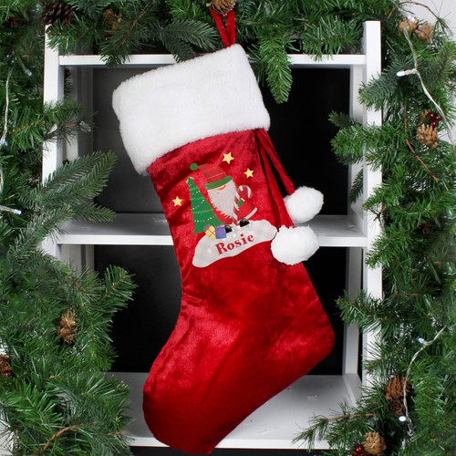 Personalised Tartan Santa Luxury Stocking From Something Personal