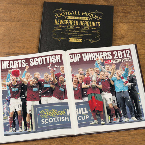 Personalised Hearts Football Book From Something Personal