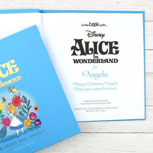 Personalised Disney Alice In Wonderland Story Book From Something Personal