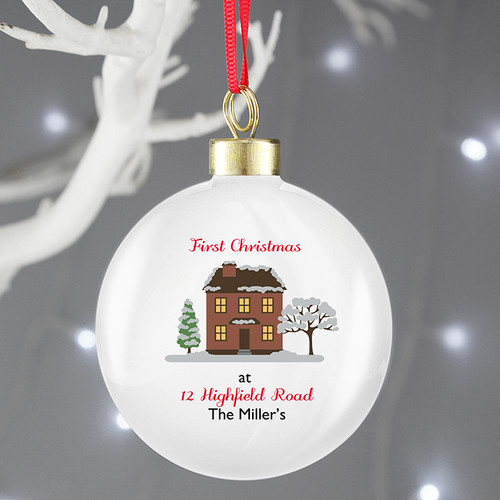Personalised Cosy Christmas Bauble From Something Personal