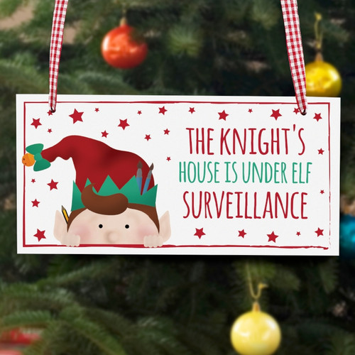 Personalised Christmas Elf Wooden Sign From Something Personal