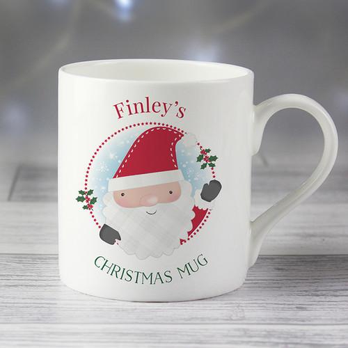 Personalised Santa Claus Balmoral Mug From Something Personal