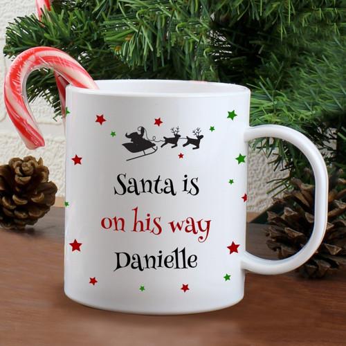 Personalised Christmas Eve Plastic Mug From Something Personal