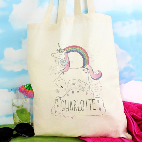 Personalised Unicorn Cotton Bag From Something Personal