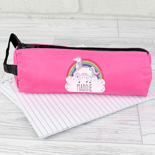 Personalised Unicorn Pink Pencil Case From Something Personal