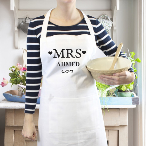 Personalised Mrs White Apron From Something Personal