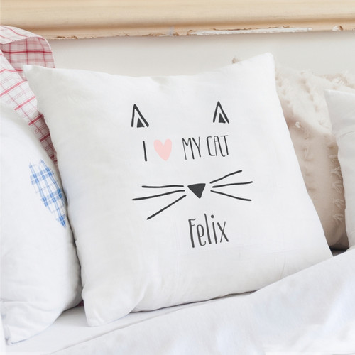 Personalised Cat Features Cushion Cover From Something Personal