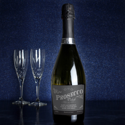 Personalised Prosecco O'Clock Bottle of Prosecco From Something Personal