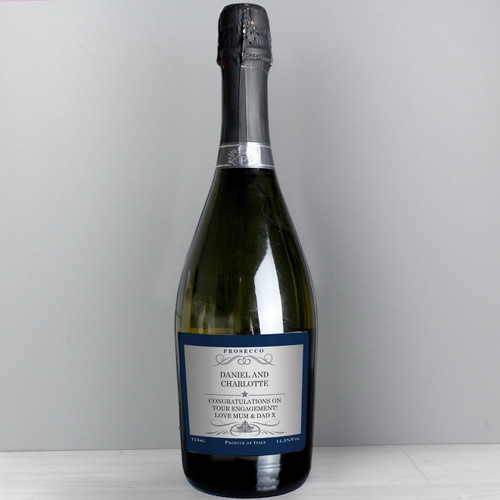 Personalised Any Message Bottle of Prosecco From Something Personal