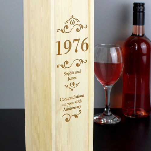 Personalised Elegant Number Bottle Presentation Box From Something Personal