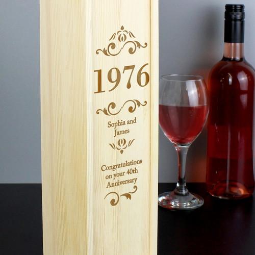 Personalised Elegant Number Bottle Presentation Box From Something Personal
