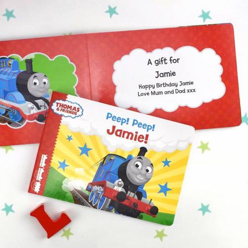 Personalised Thomas & Friends Peep Peep Board Book From Something Personal