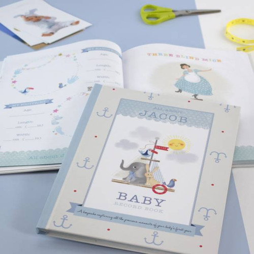 Personalised Baby Boy Record Book From Something Personal