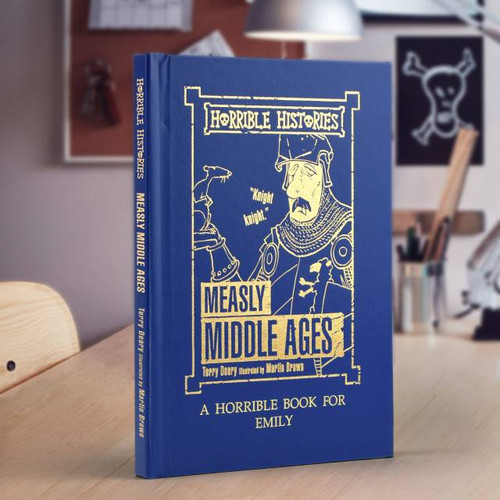 Personalised Horrible Histories Measly Middle-Ages Book From Something Personal