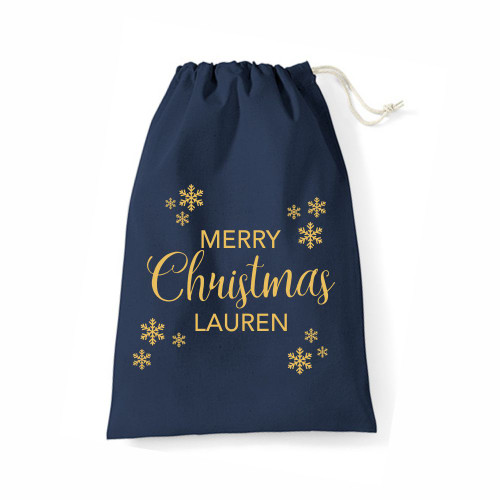 Personalised Snowflake Sack