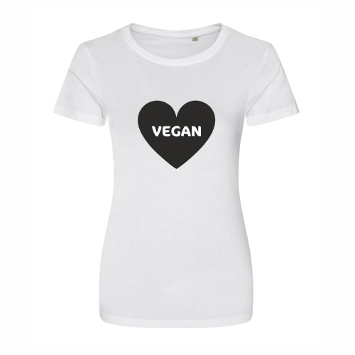 Vegan Heart T Shirt