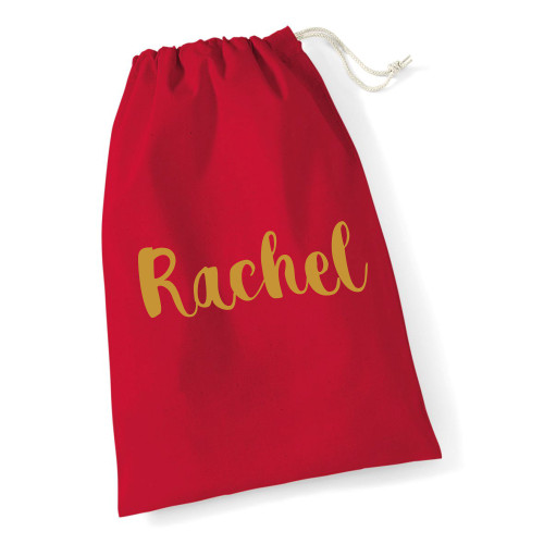 Personalised Red Name Mega Sack From Something Personal