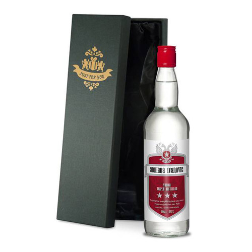 Personalised Vodka Bottle From Something Personal