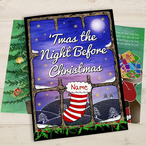 Personalised 'Twas The Night Before Christmas Book From Something Personal