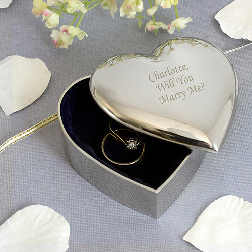 Personalised Heart Trinket Box From Something Personal