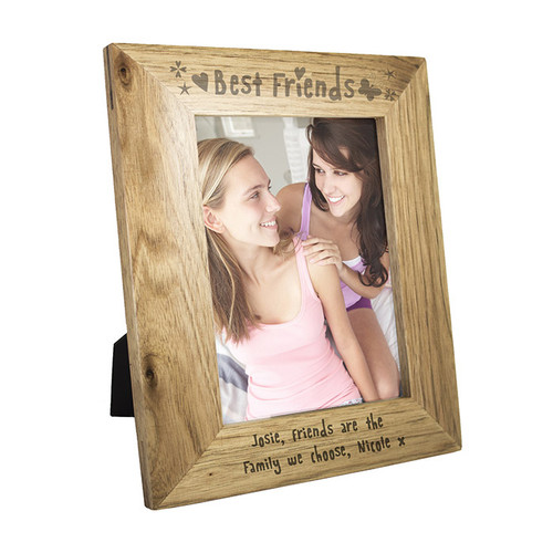 Personalised Best Friends Wooden 5x7 Frame From Something Personal
