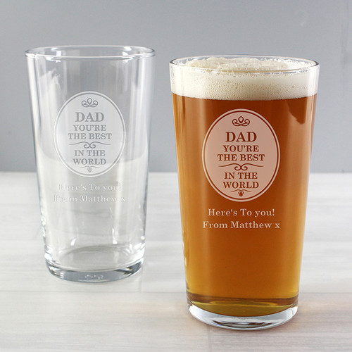 Personalised The Best in the World Pint Glass From Something Personal