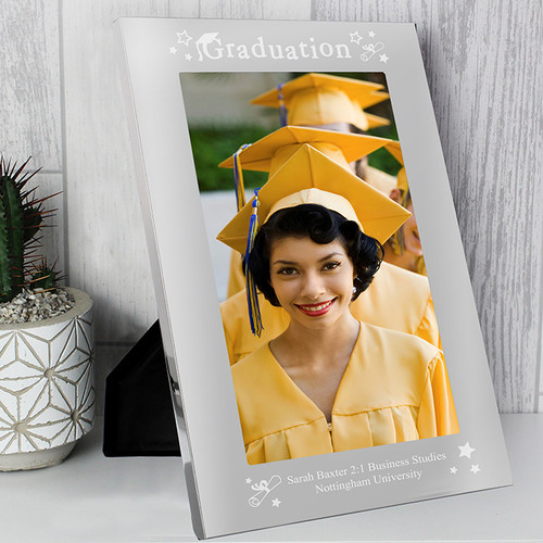 Personalised Mirrored Graduation Glass Frame From Something Personal