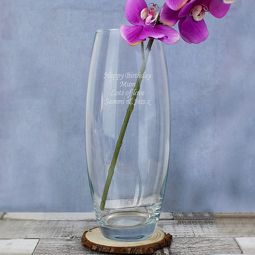 Personalised Tapered Bullet Vase From Something Personal