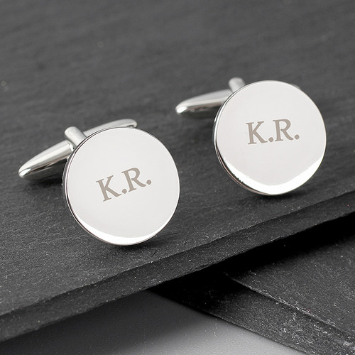 Personalised Round Cufflinks From Something Personal