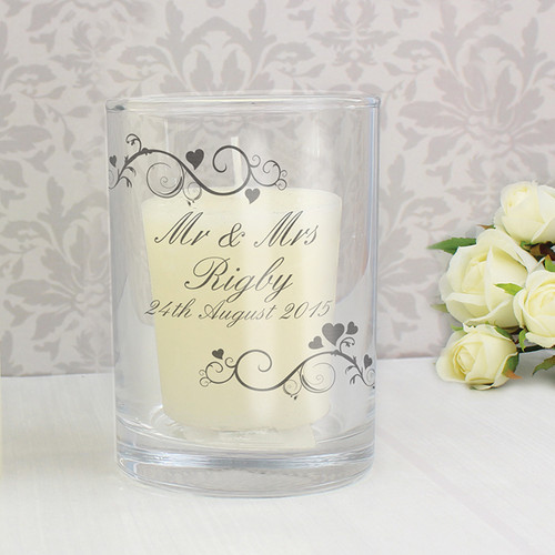 Personalised Ornate Swirl Votive Candle Holder From Something Personal
