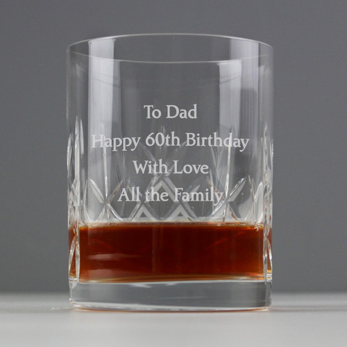 Personalised Crystal Whisky Tumbler From Something Personal