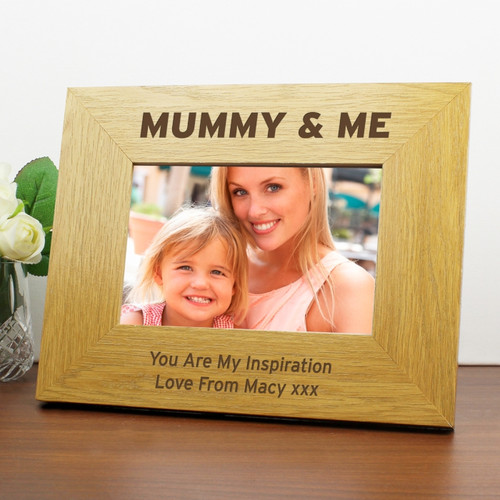 Personalised Mummy & Me 6x4 Wooden Frame From Something Personal