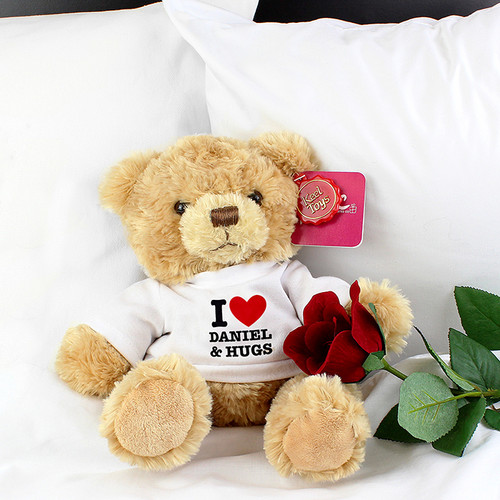 Personalised I HEART Teddy From Something Personal