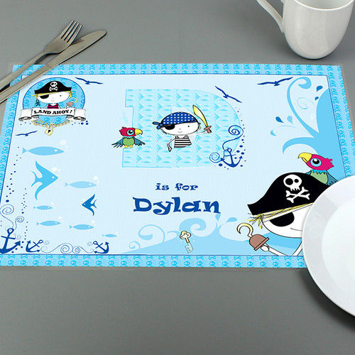 Personalised Pirate Placemat From Something Personal