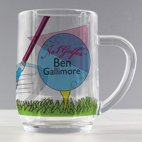 Personalised No1 Golfer Pint Tankard From Something Personal