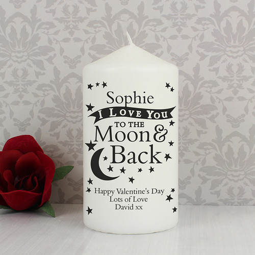 Personalised To The Moon & Back Candle From Something Personal