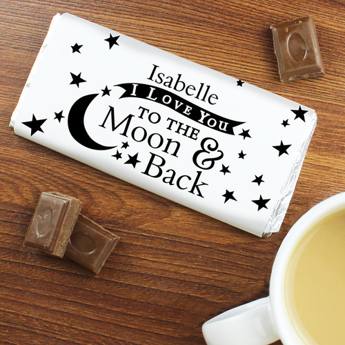 Personalised To The Moon & Back Chocolate Bar From Something Personal