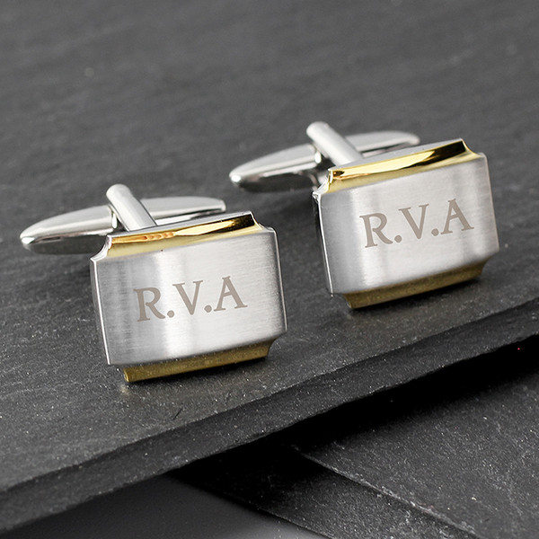 Personalised Engraved Gold Plated Cufflinks From Something Personal