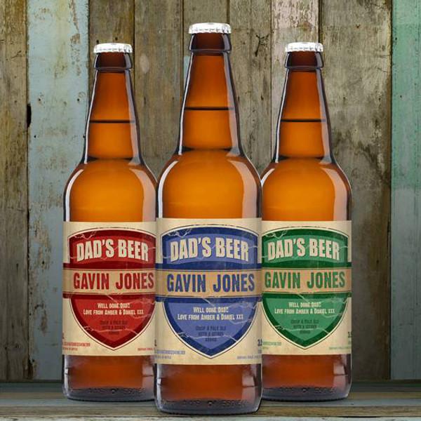 Personalised Beer 3 Pack Dad's Beer Set From Something Personal