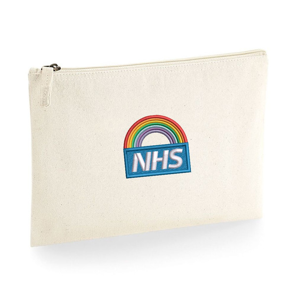 NHS Rainbow Large Accessory Pouch From Something Personal