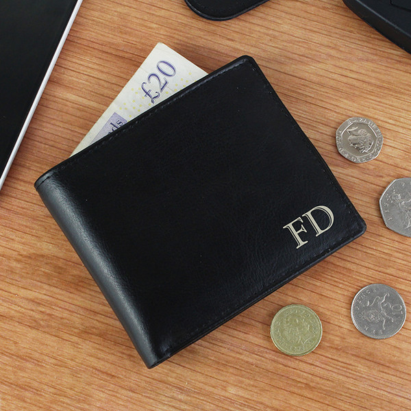 Personalised Black Initials Wallet From Something Personal
