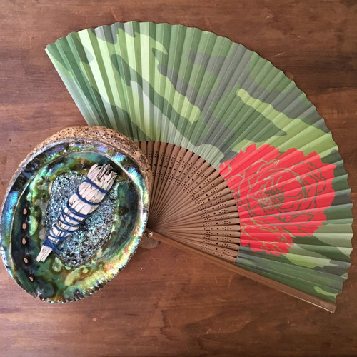 Shown with Camo & Cactus Rose Fan