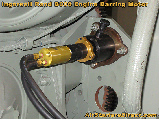 Ingersoll Rand B006 Engine Barring Motor Installation Example