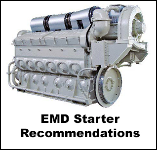 Ingersoll Rand Air Starter Recommendations for EMD Engines